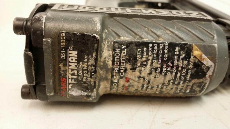 """CRAFTSMAN 351.18309 18 GAUGE BRAD NAILER 3/8-1 1/4""""]"""