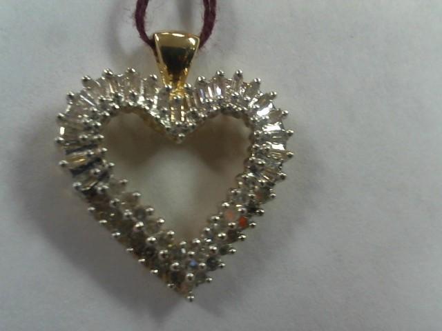 Gold-Multi-Diamond Pendant 44 Diamonds .44 Carat T.W. 10K Yellow Gold 2.7g