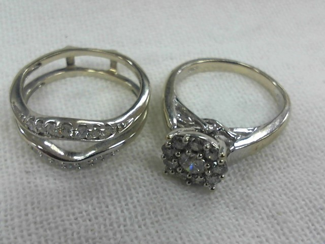 Lady's Diamond Wedding Set 24 Diamonds .74 Carat T.W. 10K White Gold 5.4g