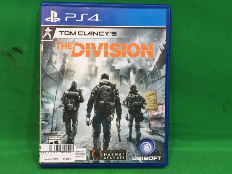 Tom Clancy's The Division PS4 (Sony PlayStation 4, 2016)