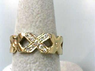 Lady's Diamond Wedding Band 9 Diamonds .18 Carat T.W. 14K Yellow Gold 2.3dwt