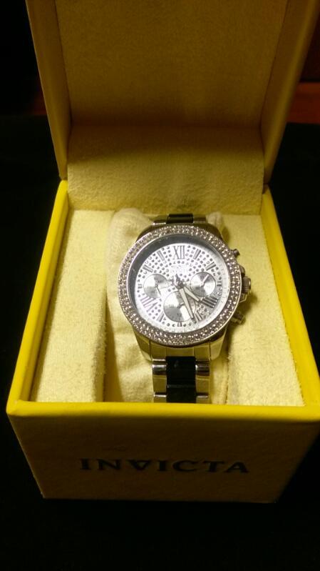INVICTA Lady's Wristwatch  Model 20510 Angel tritnite night glow