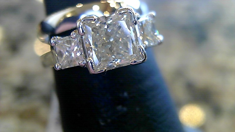 Lady's Diamond Wedding Set 3 Diamonds 1.48 Carat T.W. 14K White Gold 5g