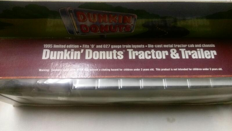 DUNKIN' DONUTS TRACTOR & TRAILER FROM 1995