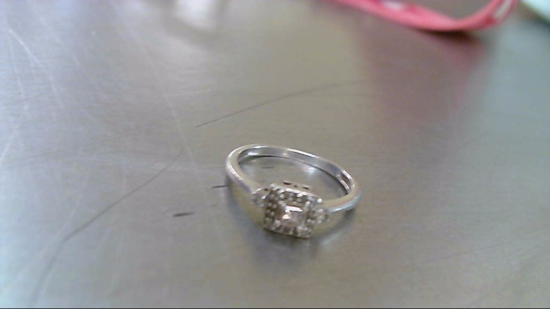 Lady's Diamond Fashion Ring .15 CT. 10K White Gold 1.9g