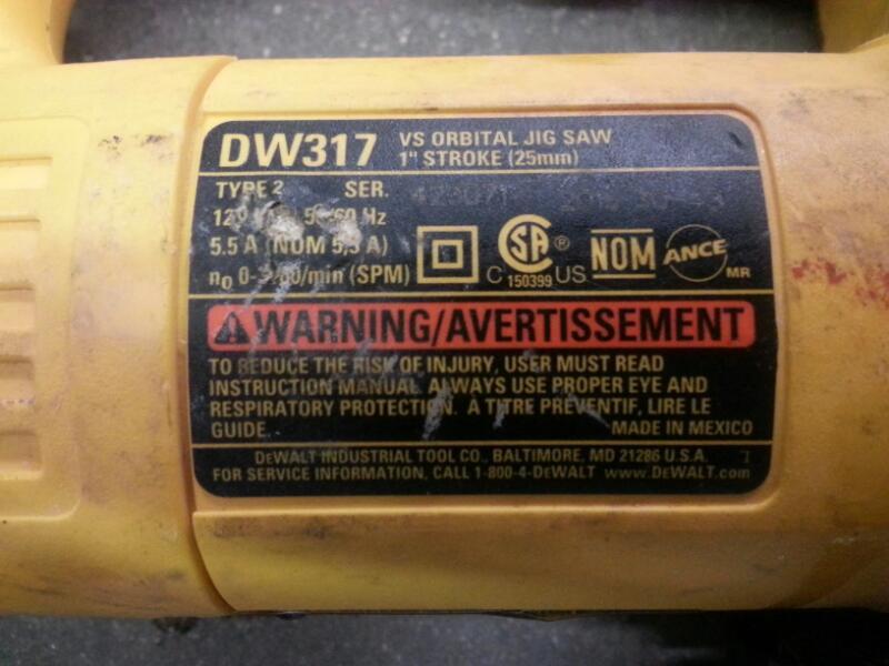DEWALT Jig Saw DW317