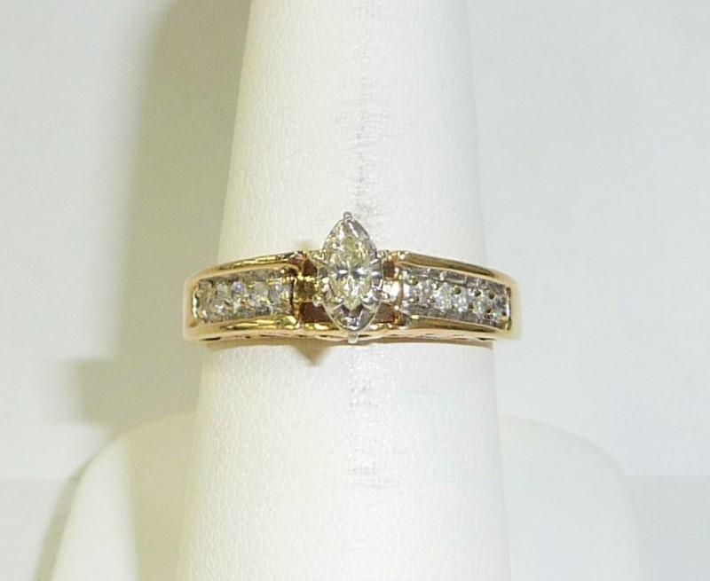 Lady's Diamond Engagement Ring 11 Diamonds .50 Carat T.W. 10K Yellow Gold