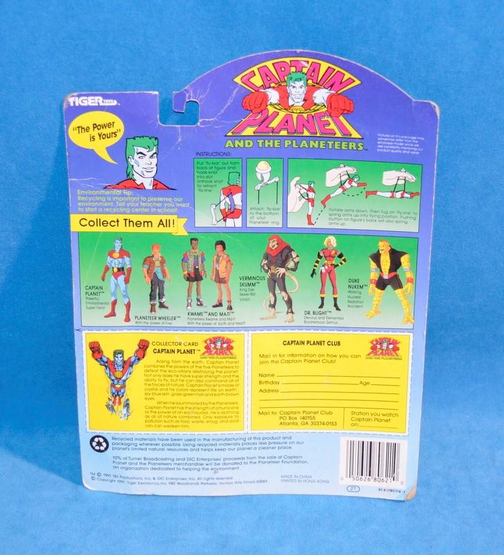 TIGER TOYS Vintage/Antique Toys CAPTAIN PLANET 80-621