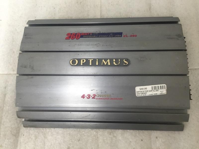 OPTIMUS 260 WATT CAR AMP XL-260