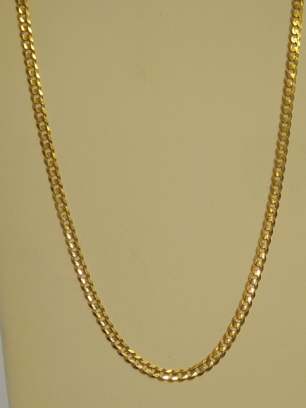 "22"" Gold Link Chain 14K Yellow Gold 9.6g"
