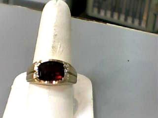 Almandite Garnet Gent's Stone Ring 10K Yellow Gold 3.7dwt