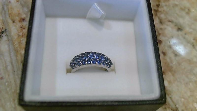 LeVian Genuine Sapphire 18K White Gold Cluster Ring