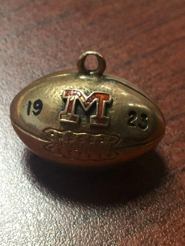 1923 MICHIGAN FOOTBALL PENDANT