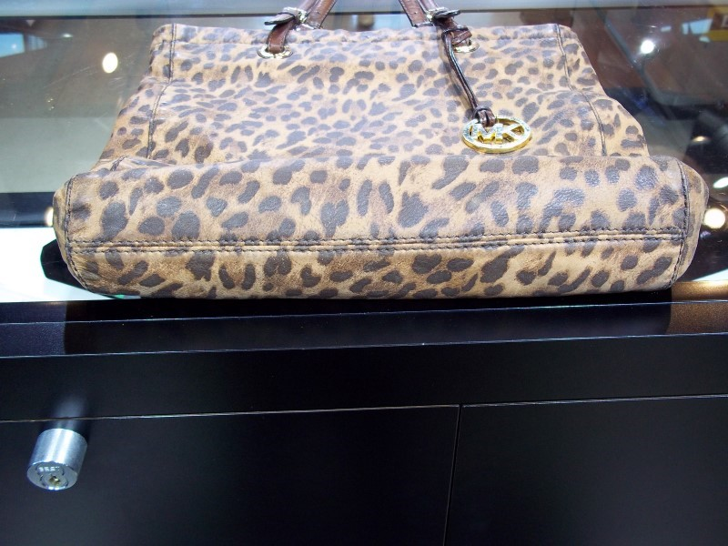MICHAEL KORS LEOPARD PRINT TOTE SHOPPER BAG