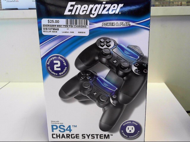 ENERGIZER PS4 CHARGING SYSTEM