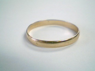 Lady's Gold Wedding Band 14K Yellow Gold 1.4g Size:10.5