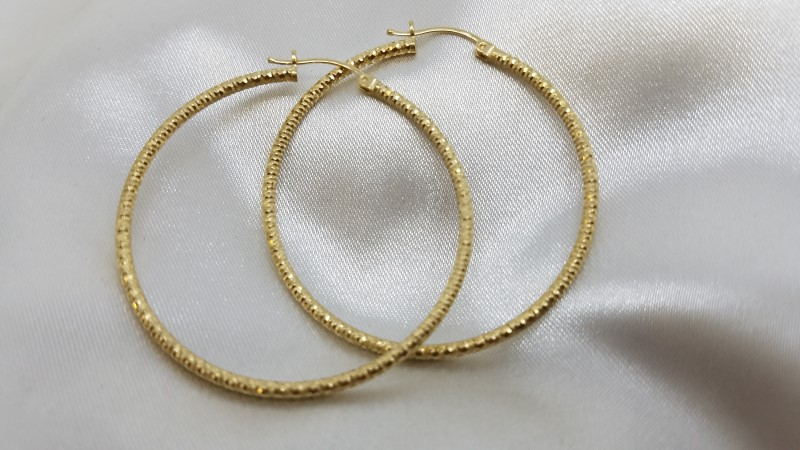 Gold Earrings 14K Yellow Gold 4.3g
