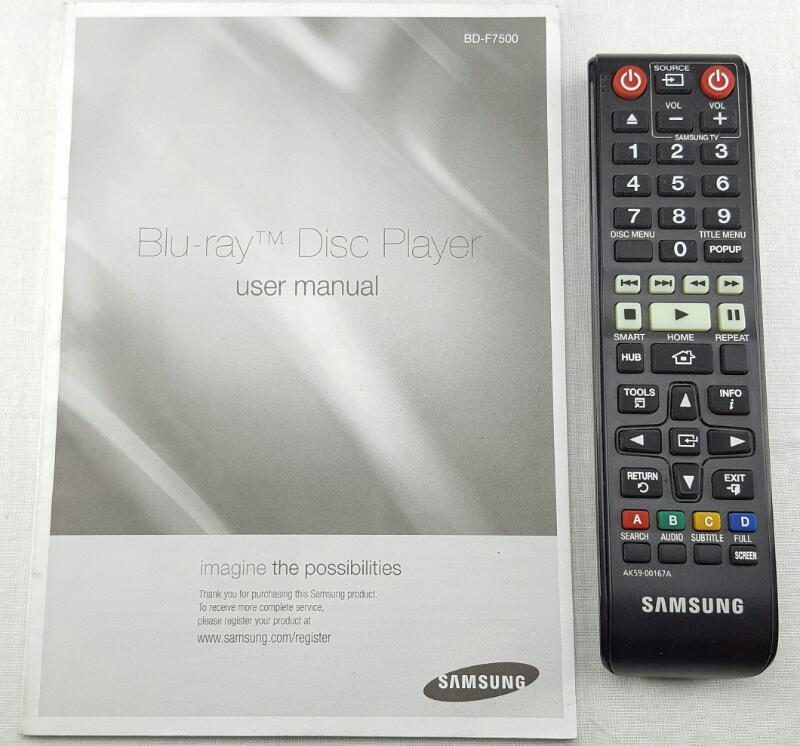 SAMSUNG DVD/Blu-Ray Player 4K Upscaling 3D Wi-fi BD-F7500