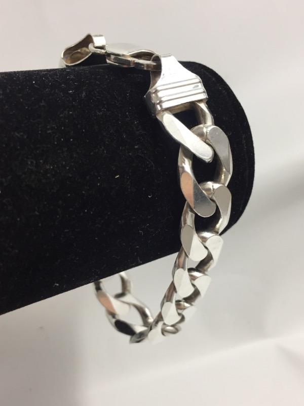 Silver Curb Bracelet 925 Silver 38.3dwt