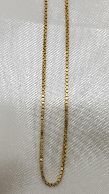 "19"" Gold Box Chain 14K Yellow Gold 4.3g"
