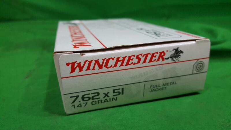 WINCHESTER 7.62X51 147GRAIN FMJ 20RDS