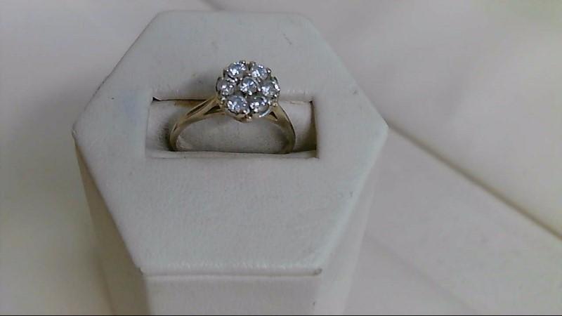 Lady's Diamond Cluster Ring 7 Diamonds .53 Carat T.W. 14K Yellow Gold 2.3g