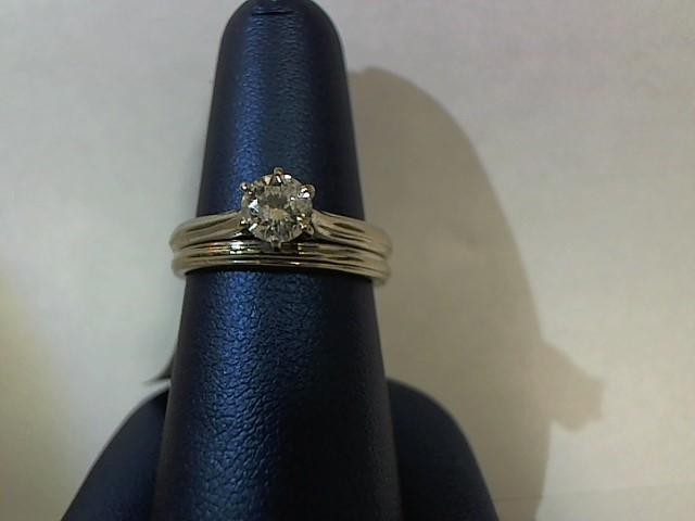 Lady's Diamond Wedding Set .50 CT. 14K White Gold 4.9g Size:6.5