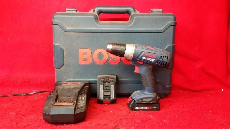 "Bosch 36618 18V Lithium Ion 1/2"" Cordless Drill Kit"