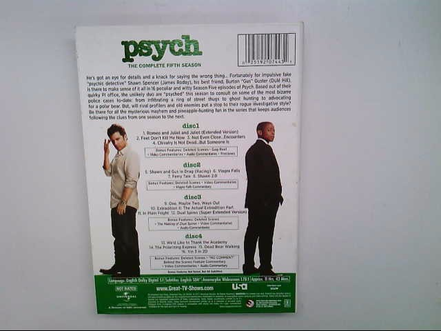 UNIVERSAL STUDIOS DVD PSYCH THE COMPLETE SEVENTH SEASON