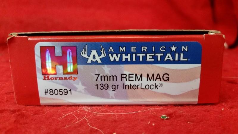 Hornady 7mm Mag 139gr InterLock Ammo #80591