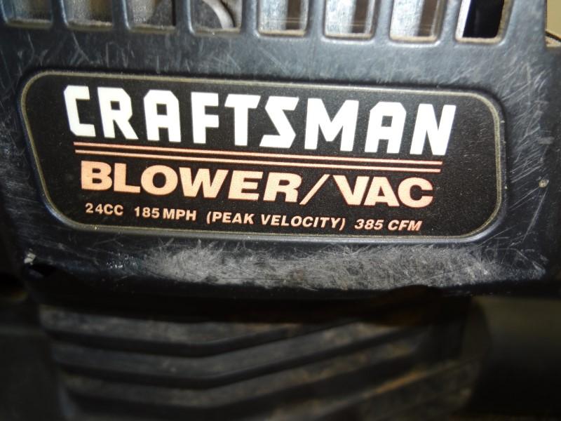 CRAFTSMAN 358.797931 24CC 185MPH GAS BLOWER/VAC