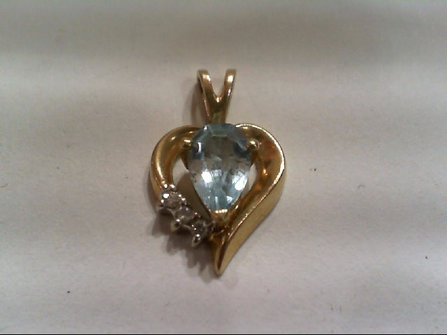 Gold-Multi-Diamond Pendant 3 Diamonds .03 Carat T.W. 10K Yellow Gold 1.4g