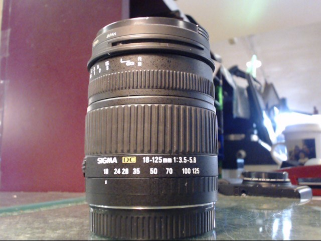 SIGMA Lens/Filter 18-125MM DC EOS