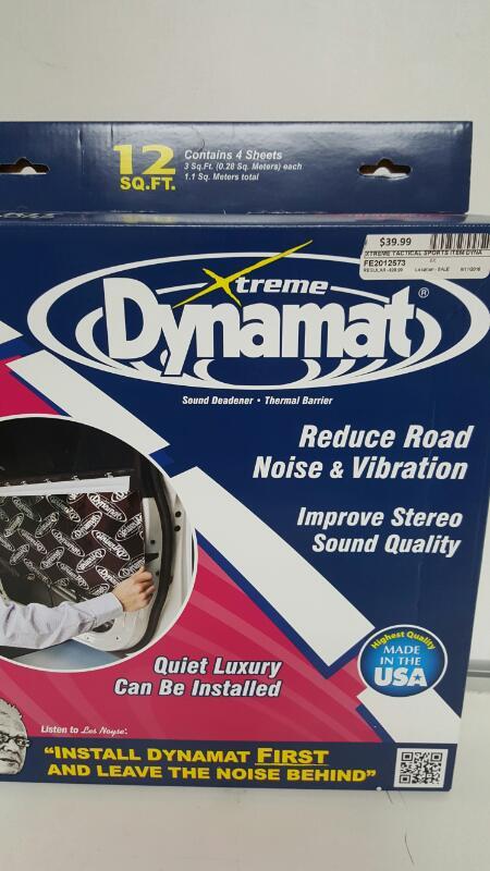 """Dynamat Xtreme 10435 Four 12"""" x 36"""" Pcs Door Kit Sound Dampening Kit 12 Sq. Ft."""