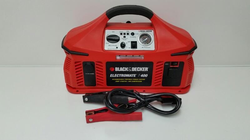 BLACK & DECKER VEC026BD JUMP-STARTER WITH BUILT-IN AIR COMPRESSOR