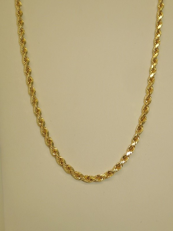 "28"" Gold Fashion Chain 10K Yellow Gold 7.4g"