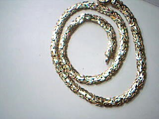 "18.5"" Gold Byzantine Chain 14K Yellow Gold 23.3g"