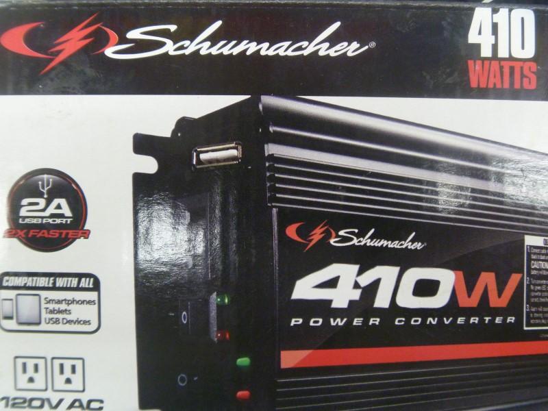SCHUMACHER XI41B 410 WATT POWER INVERTER **NEW BUT HAS BEEN OPENED**