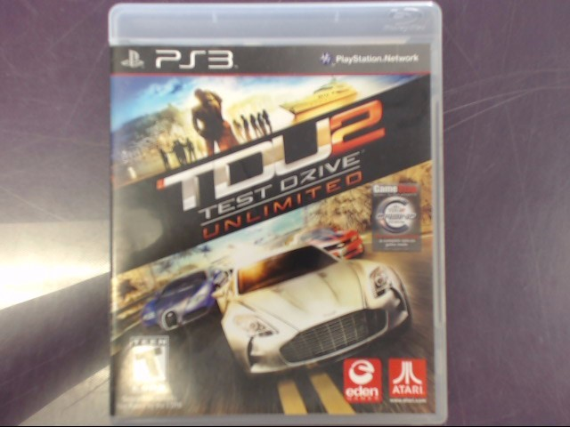 TEST DRIVE UNLIMITED 2 SONY PLAYSTATION 3