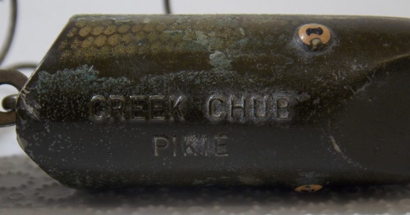 VINTAGE CREEK CHUB PIKIE WOODEN LURE, 5""