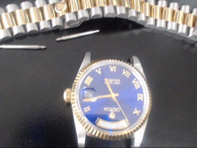 CROTON Lady's Wristwatch EQUATOR STAINLESS STEEL/18K GOLD