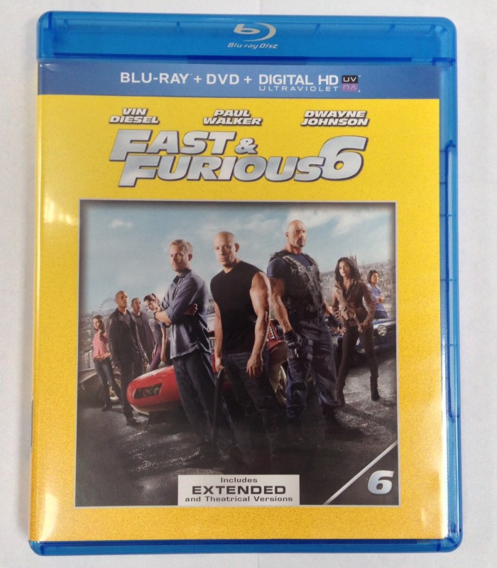 BLU-RAY MOVIE FAST & FURIOUS 6 2-DISC SET
