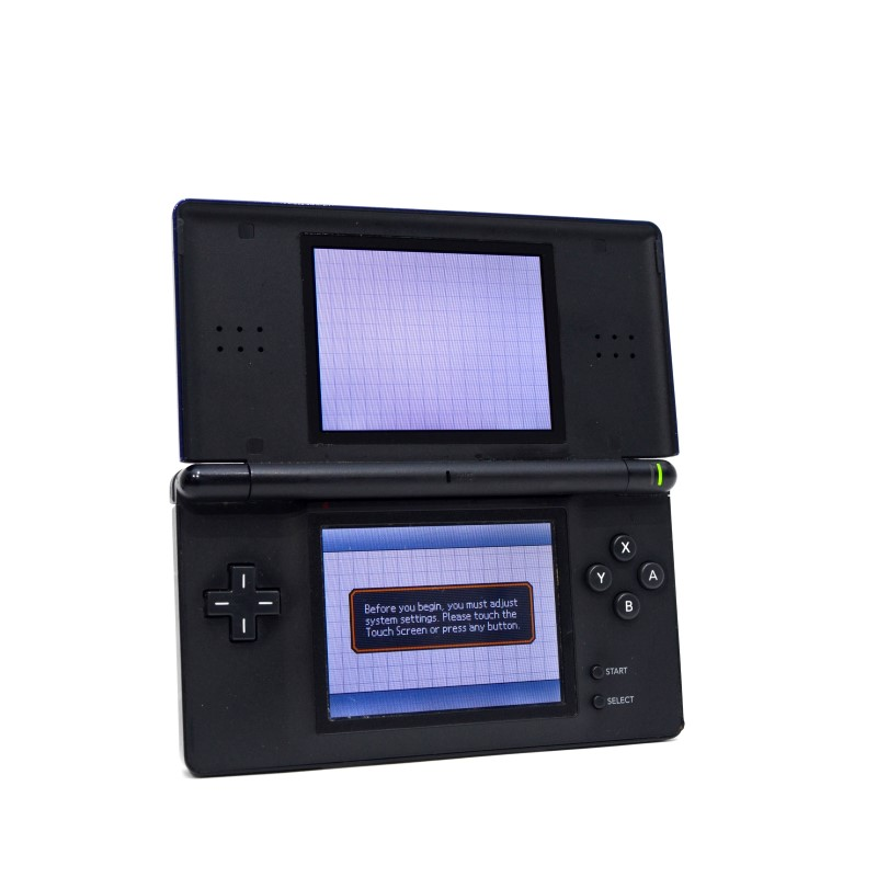 Nintendo DS Lite Blue Handheld Game System - USG-001 - Case Bundle>