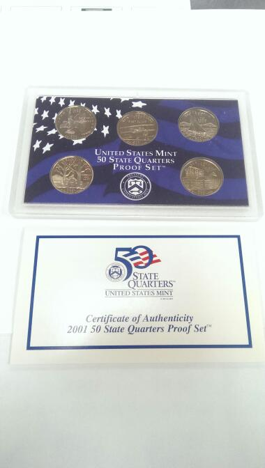UNITED STATES 2001 STATE QUARTER PROOF SET