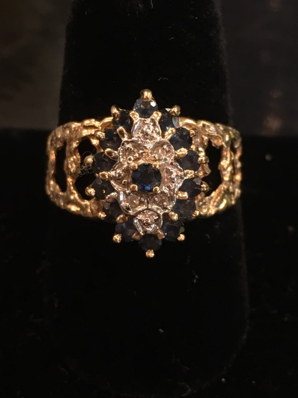 Lady's Gold Ring 10K Yellow Gold 2.4dwt Size:7