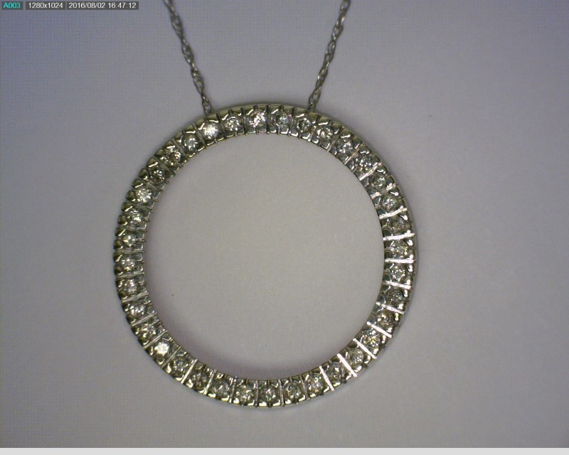 "18"" Diamond Necklace 36 Diamonds .36 Carat T.W. 10K White Gold 1.68dwt"
