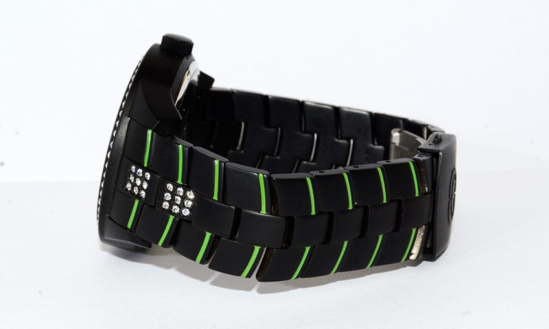MARC ECKO The Futura, BLACK/GREEN, STAINLESS STEEL Watch