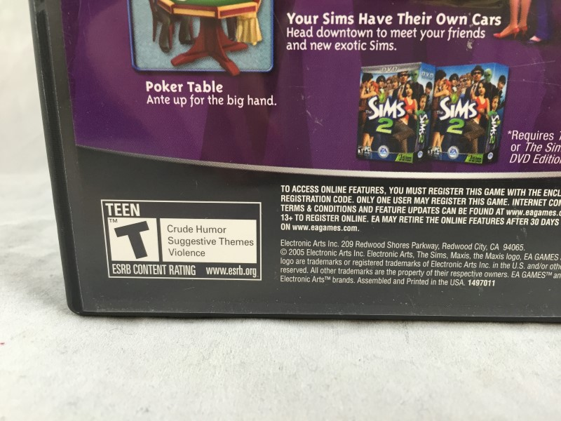 The Sims 2 and The Sims 2 Nightlife Expansion Pack Bundle PC CD-ROM