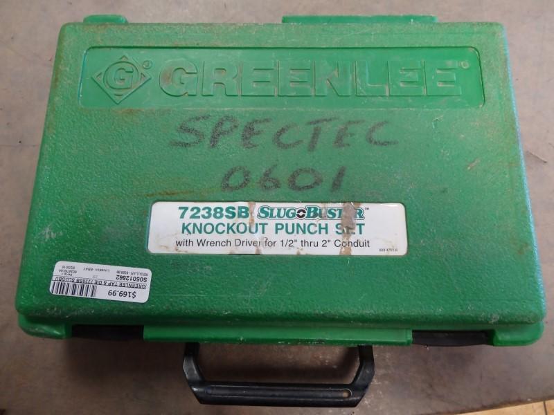 GREENLEE Tap & Die 7238SB SLUGBUSTER KNOCKOUT SET