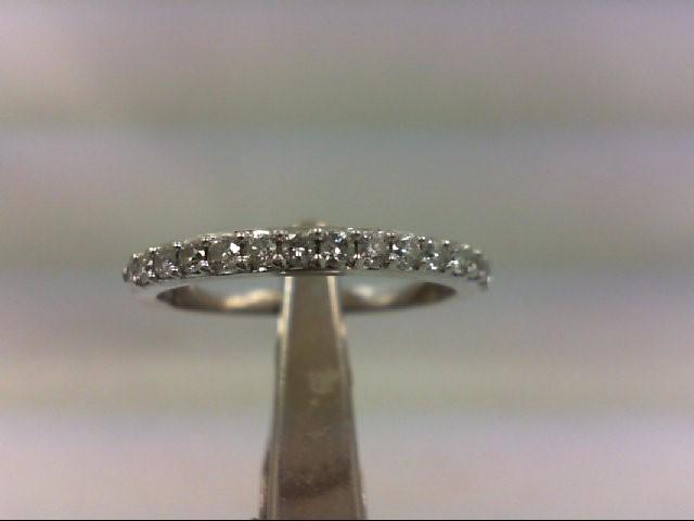 Lady's Diamond Wedding Band 16 Diamonds .32 Carat T.W. 14K White Gold 1.7g